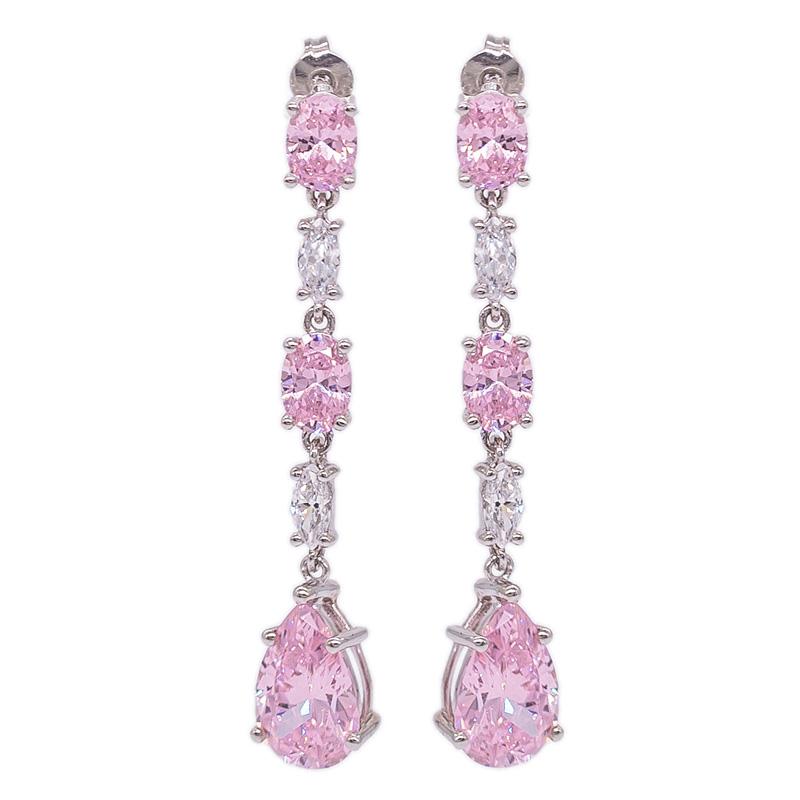 1ct Pink Stud Earrings Pink Cubic Zirconia Earrings Solitaire stud earrings 1ct pink Stud Earrings Sterling Silver Pink Stud Earrings