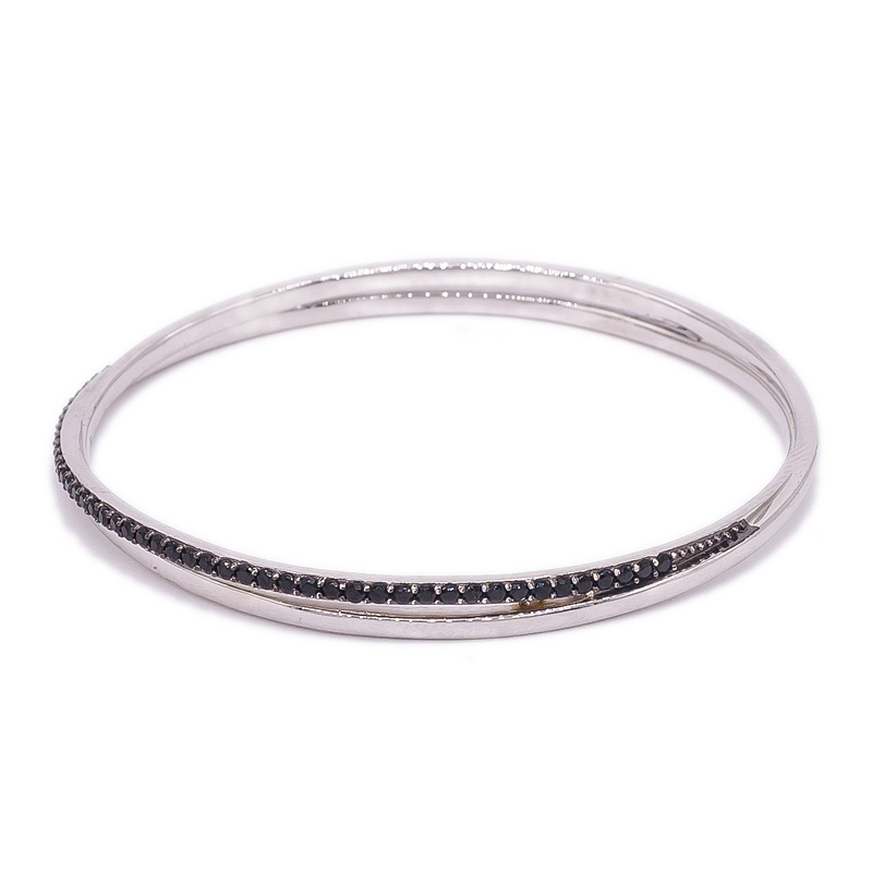 simple silver bangle for ladies