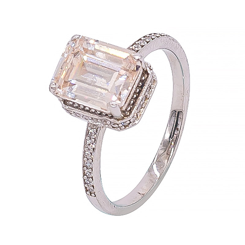 beautiful emerald cut ring