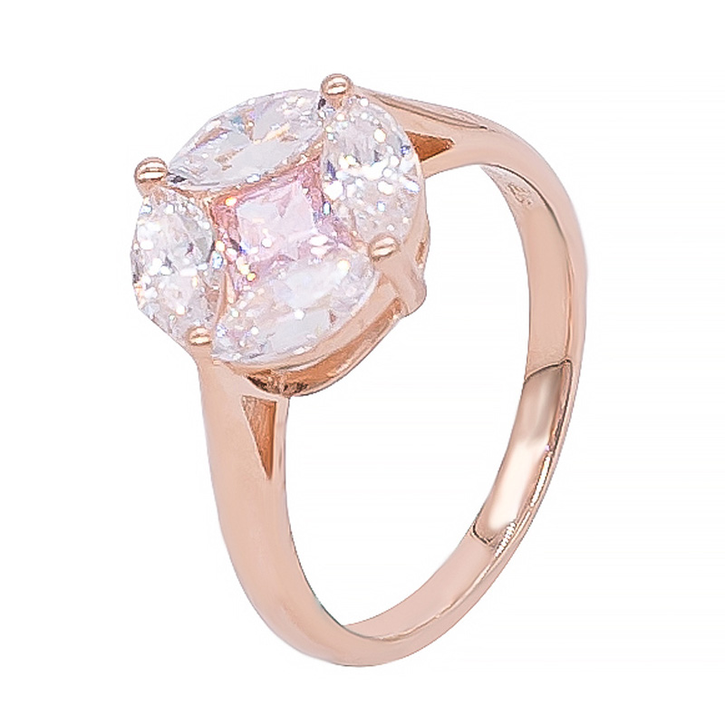 925 rose gold plated ring