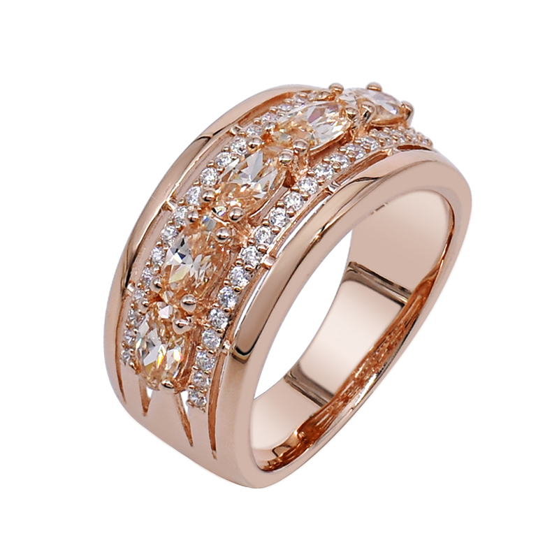 925 ring with Morgantie Peach CZ