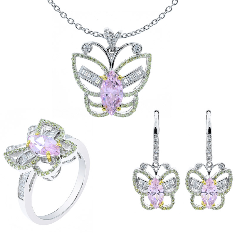 butterfly jewelry set