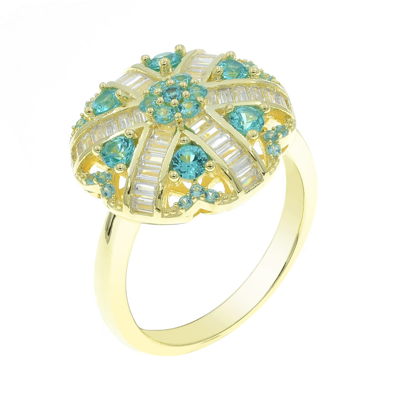 stylish paraiba ring for ladies