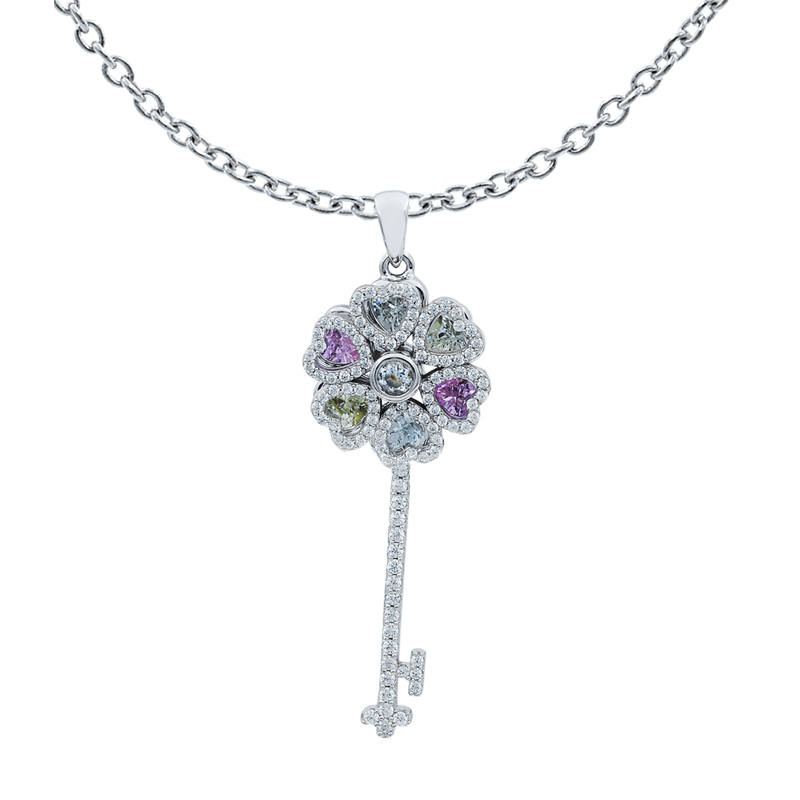 925 key pendant for ladies