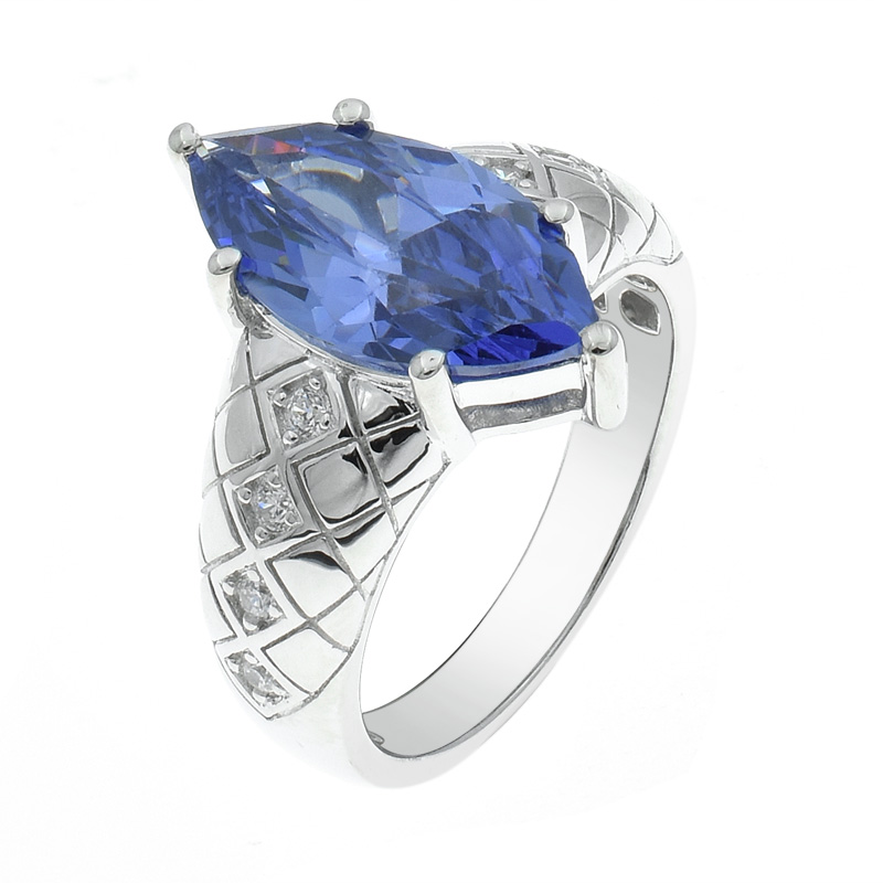 marquise tanzanite CZ ring for ladies