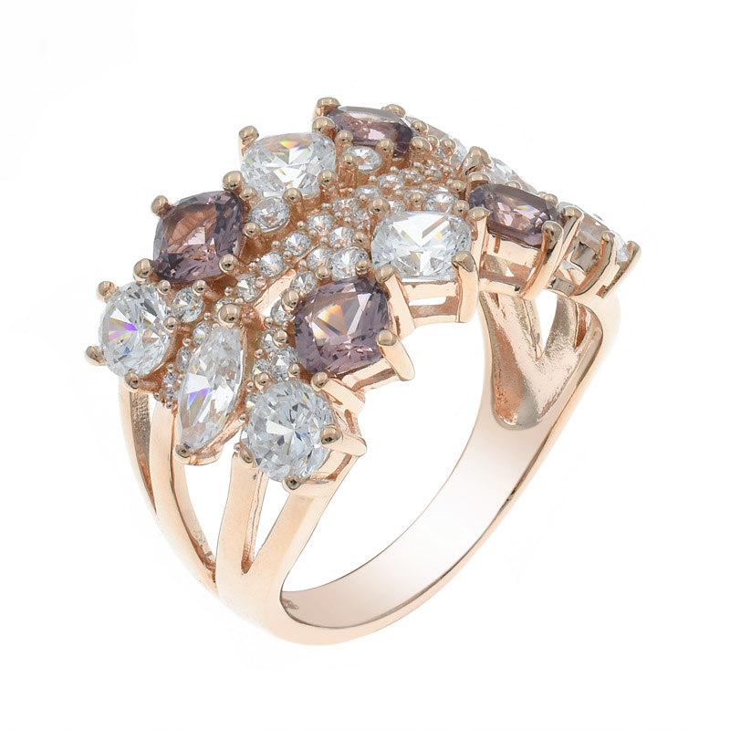 trendy silver Morganite Nano Ring