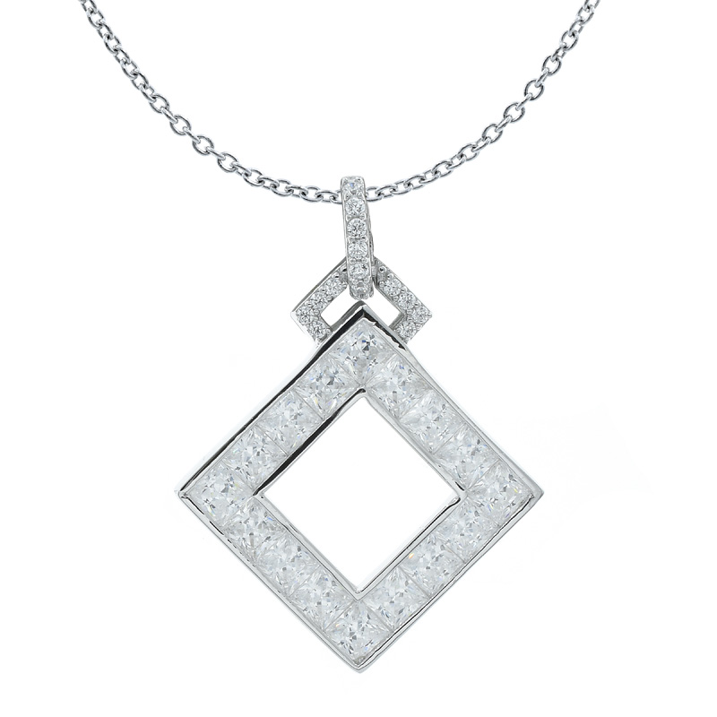 square pendant for ladies
