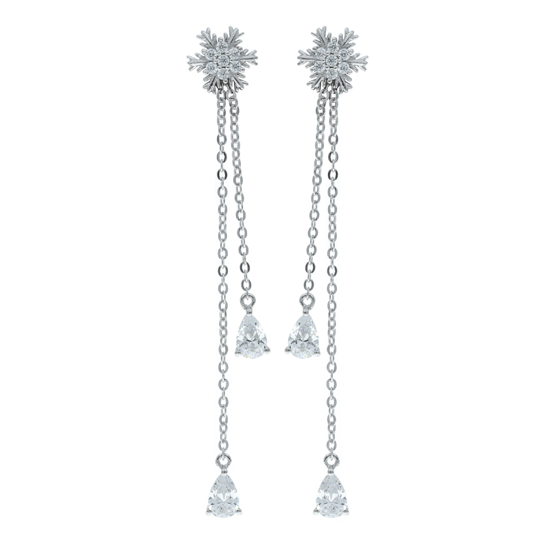 Ladies Snowflake Dangling Earrings