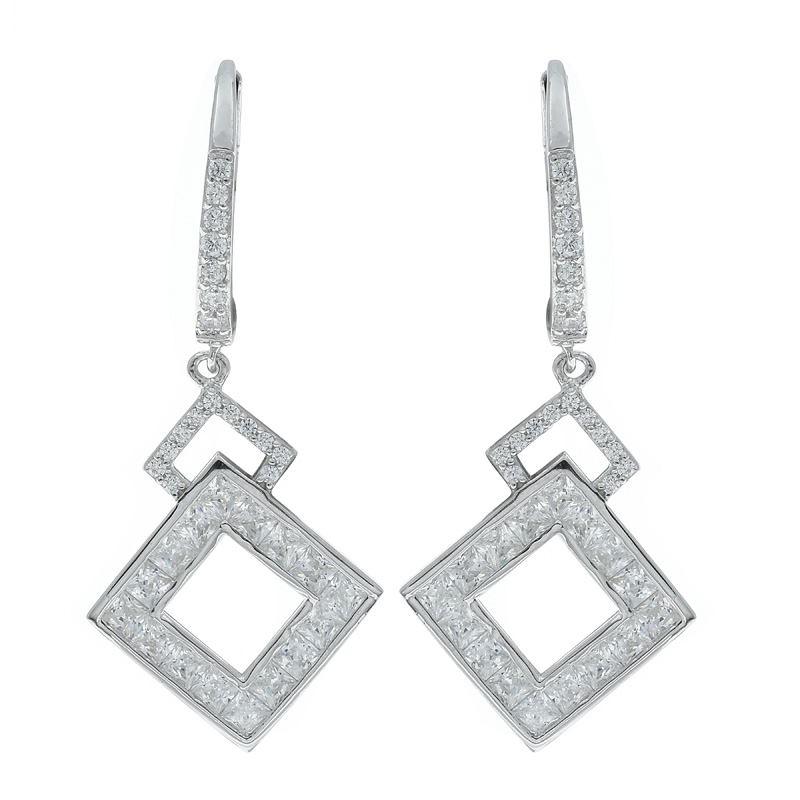 Sightly Double Square Earrings For Ladies