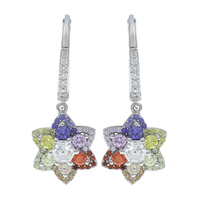 Sophisticated Multicolor Floral Women Earrings