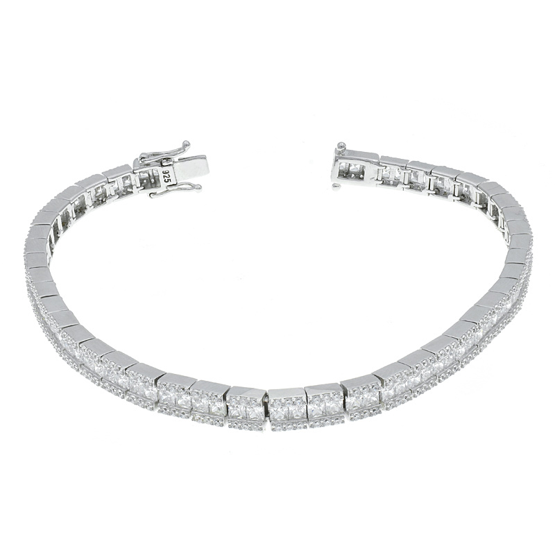 Understated White CZ Bracelet For Ladies