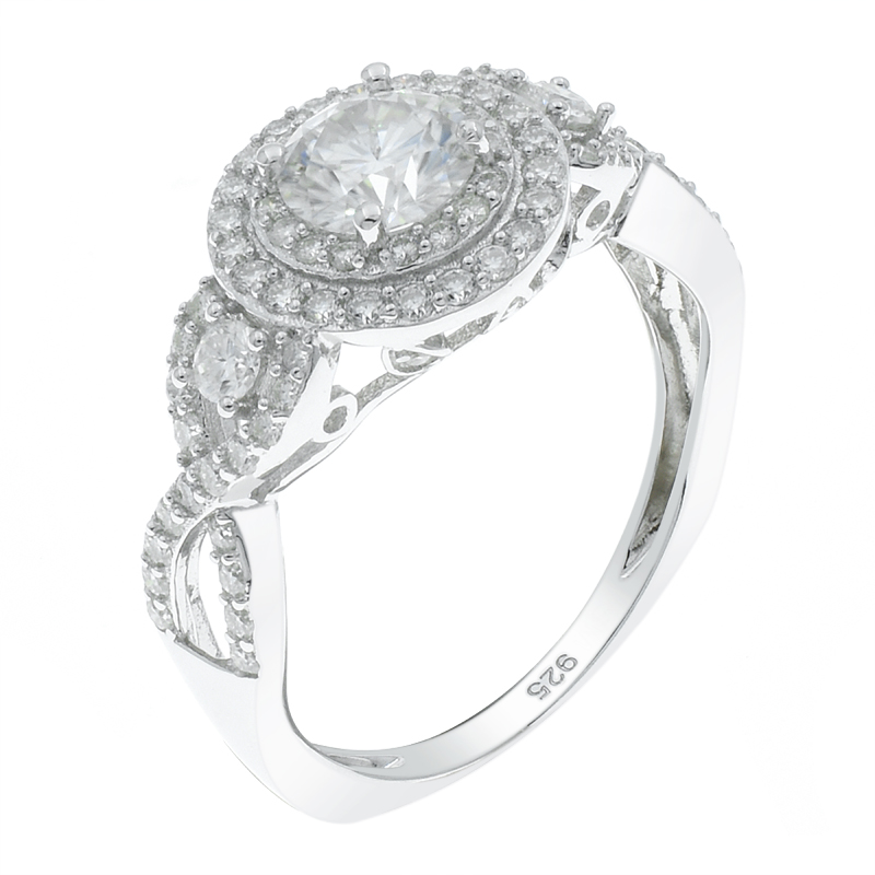 Splendour Halo Ladies 925 Ring