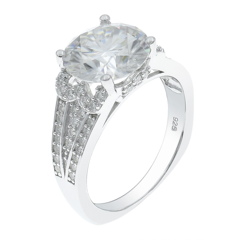 Dazzling White CZ Silver Women Ring
