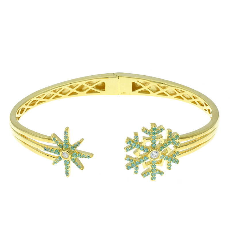 Snowflake Open Bangle For Ladies