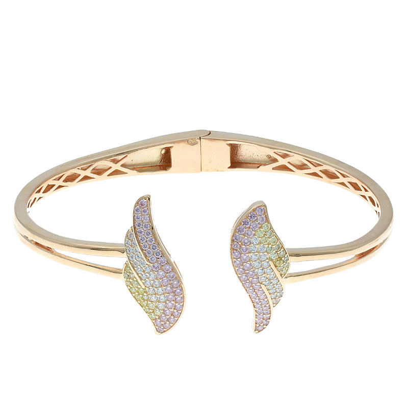 Women Double Wing Open Bangle