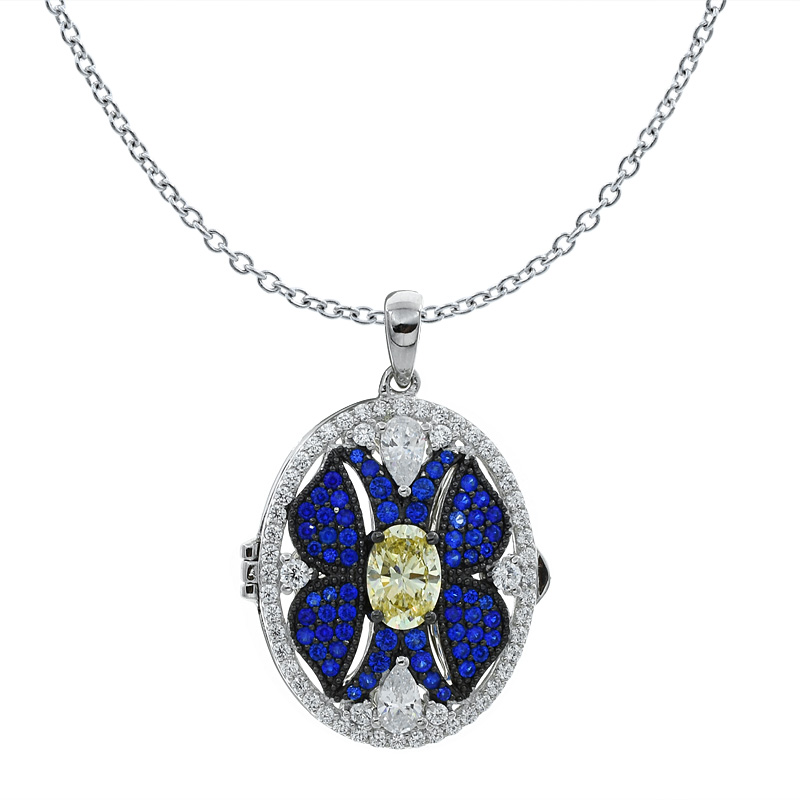 Women Oval Shape Locket Pendant