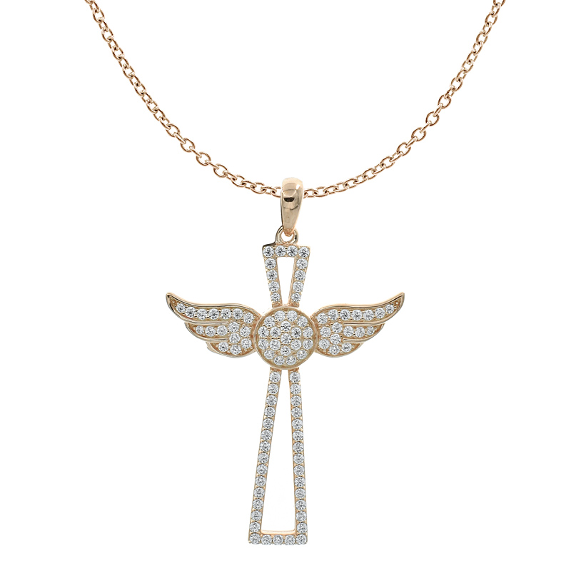Wing Cross Angel Women Pendant