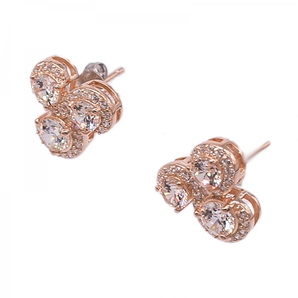 Special Jewelry Set with Morganite Peach CZ in 925 Silver