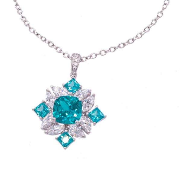Brilliant Paraiba YAG Jewelry Set in 925 Silver