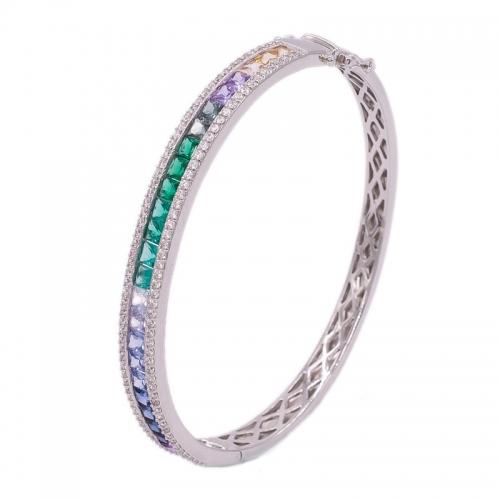 wholesale 925 rainbow bangle jewelry luxury 925 rainbow bangle
