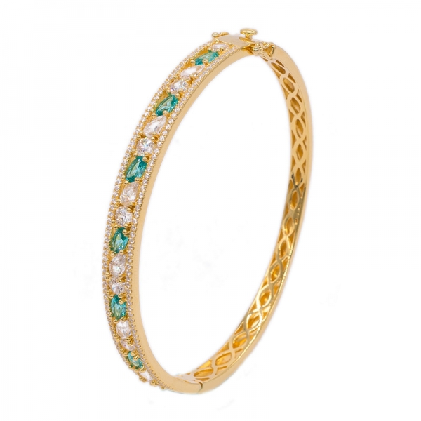 Gold Plated 925 Silver Bangle with sterling clasp