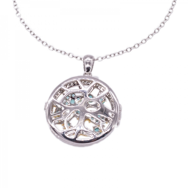 925 Hollow Out Silver Locket Pendant