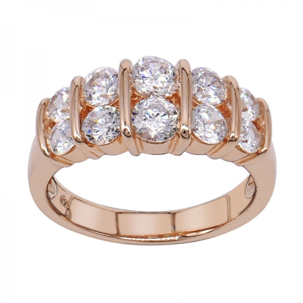 925 Simple Ladies Rose Gold Plated Ring