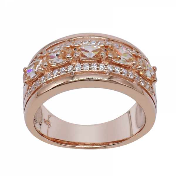 Rose Gold Plated Oval shape Morganite Peach 925 Ring