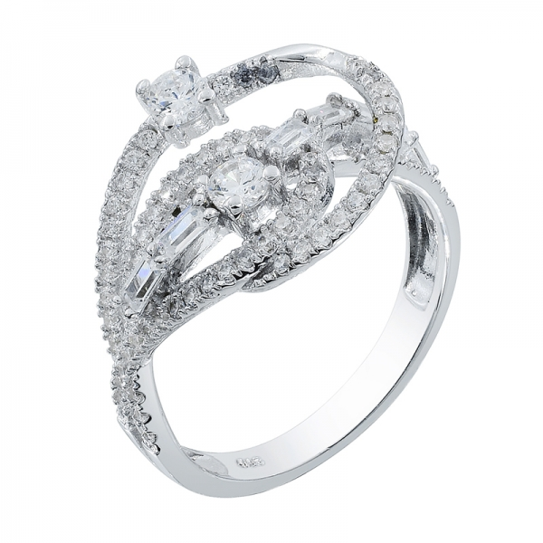 925 Sterling Silver Ring With Stunning White CZ