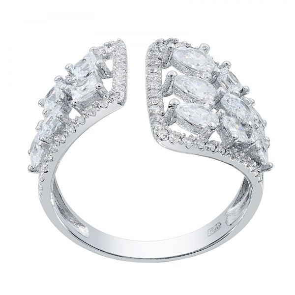 Graceful 925 White CZ Silver Ring For Ladies