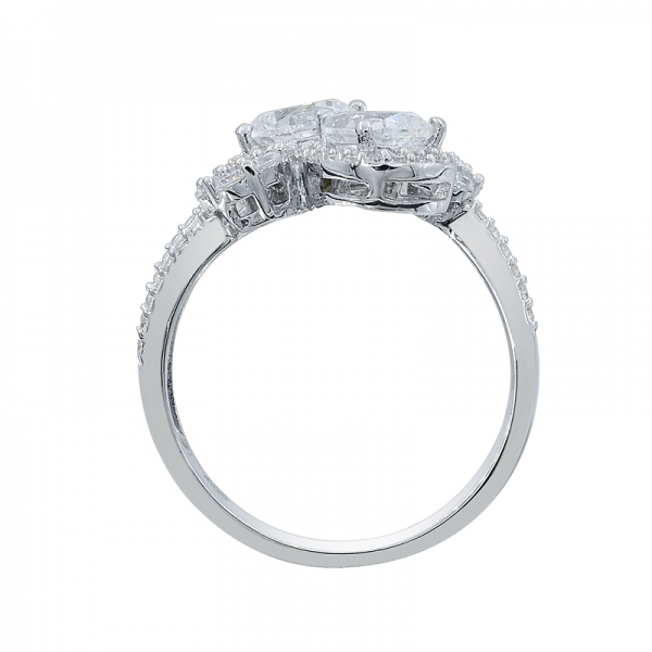 Captivating 925 Sterling Silver White CZ Ring