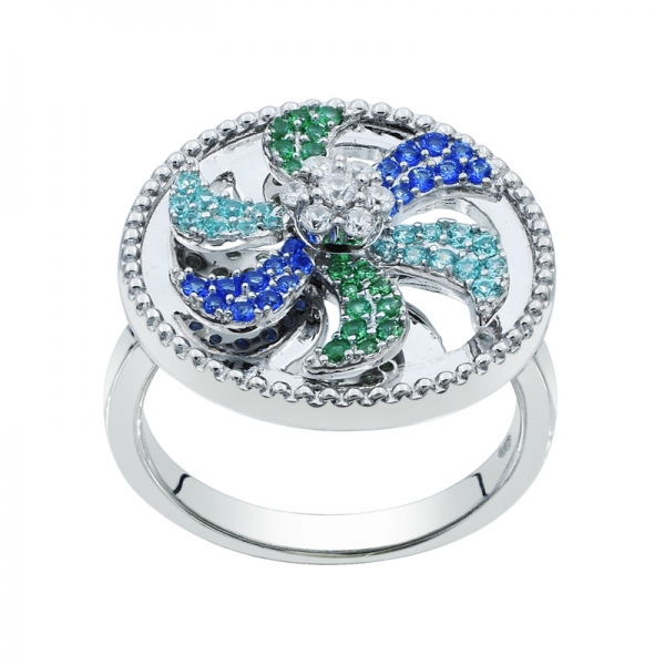 925 Windmill Spinning Silver Ring For Ladies