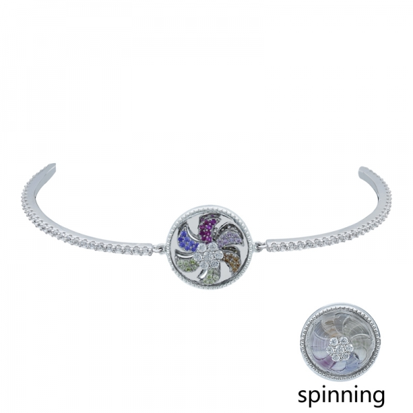 Spinning Bracelet in 925 Sterling Silver