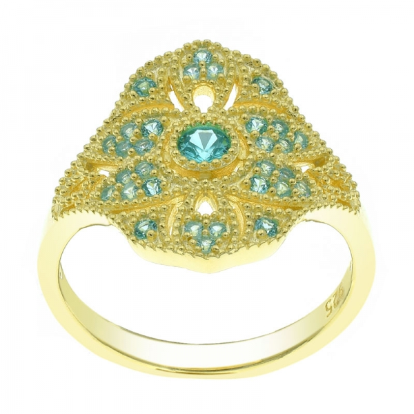 Precious Gold Plated Silver Ring For Women