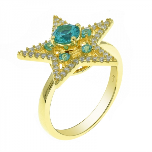 925 Silver Fancy Star Ring For Ladies