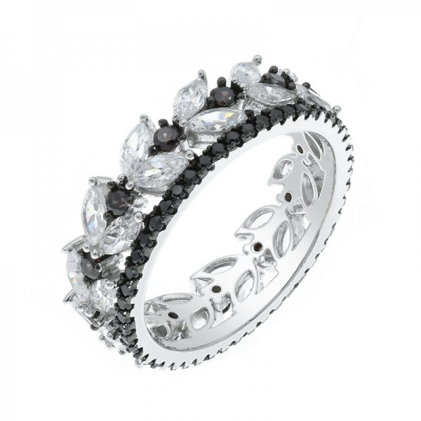 925 Infinity White & Mocha CZ Ring For Ladies