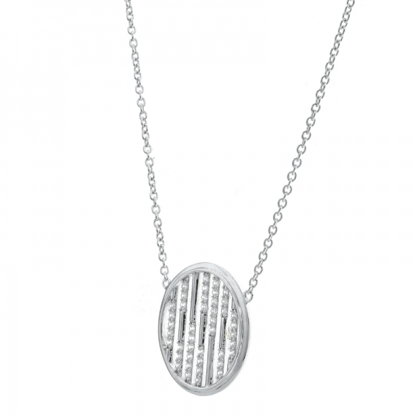 925 Sterling Silver Round Shape Simple Necklace