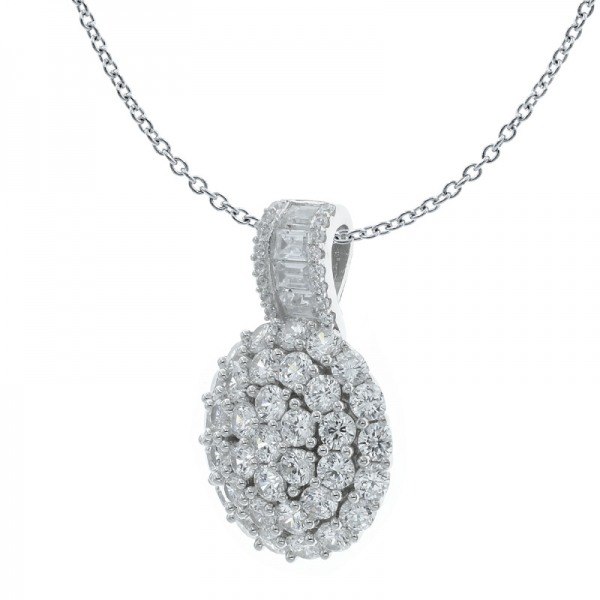 925 Sightly Round Shape Silver Ladies Pendant