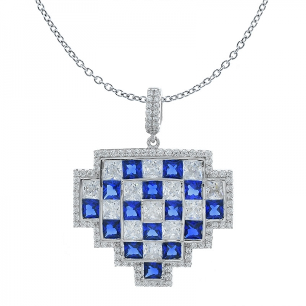 925 Stylish Lattice Silver Pendant