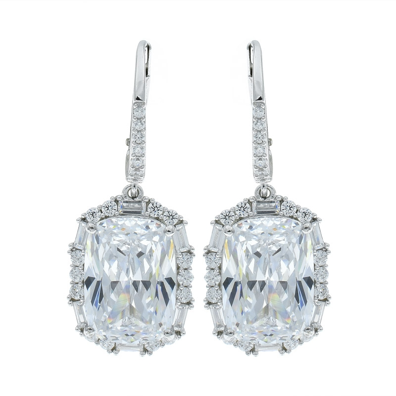 958d2fb1d Wholesale 925 Sterling Silver Glittering White CZ Earrings Manufacturers