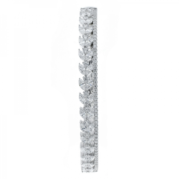 925 Sterling Silver Classic White CZ Bangle