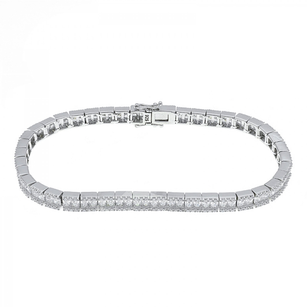 925 Sterling Silver Understated White CZ Bracelet