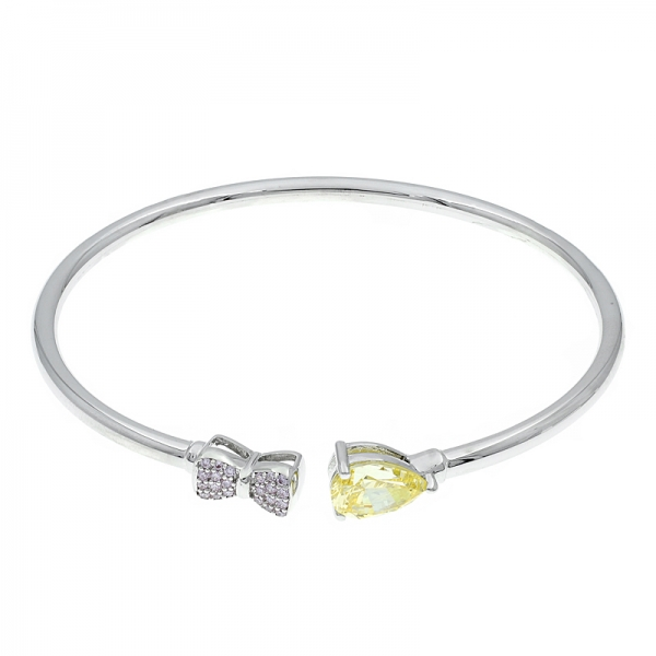 925 Sterling Silver Fancy Open Bangle