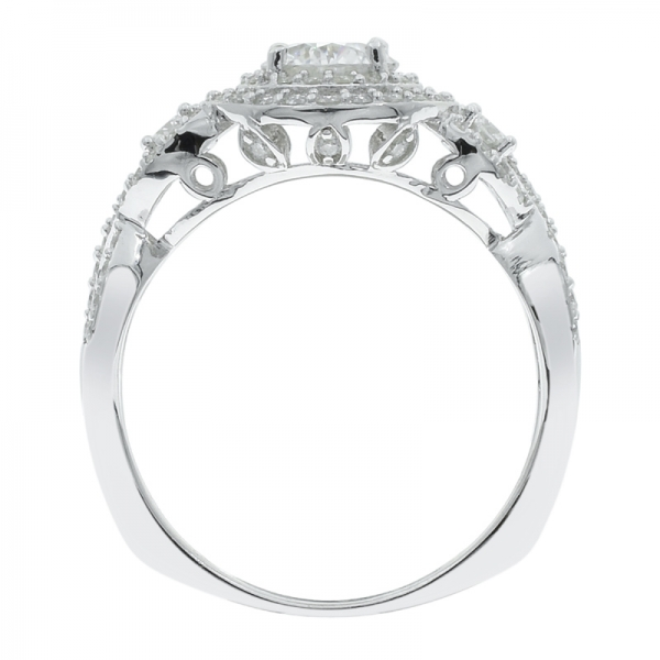 Splendour 925 Sterling Silver Halo Ladies Ring