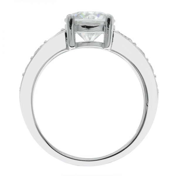 925 Sterling Silver Shining Rhodium Plated Ring