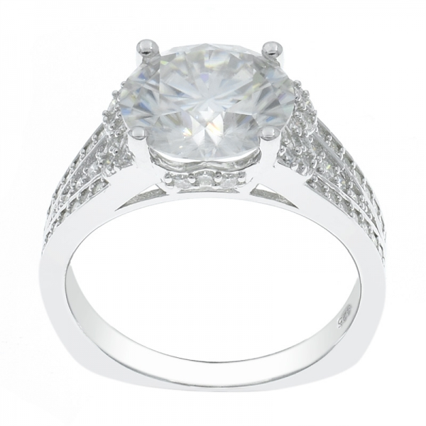 925 Silver Dazzling White CZ Ladies Ring