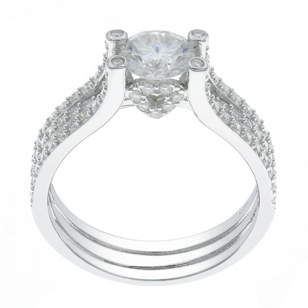 925 Silver Subtle Glamour Rhodium Plated Ring For Ladies