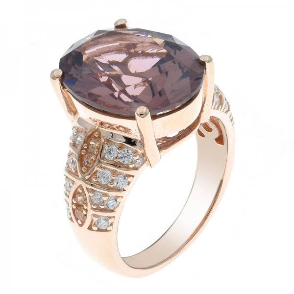 925 Silver Morganite Nano Dramatic Elegance Women Ring