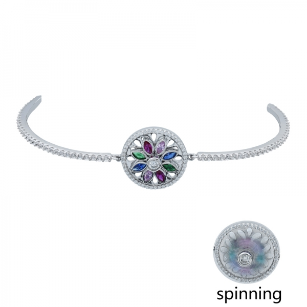 Fashionable 925 Silver Spinning Bracelet
