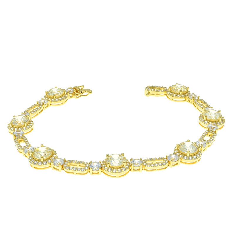 Wholesale China 925 Sterling Silver Gold Plated Bracelet